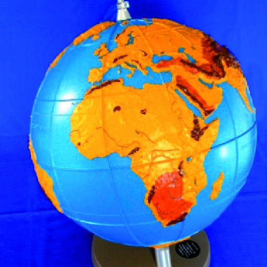 Tactile globe for the blind and visually impaires (VZFB e.V.)